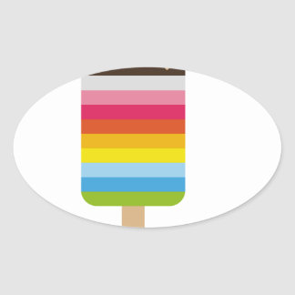 Gelado colorido do pop do Lolly Adesivos Em Formato Ovais