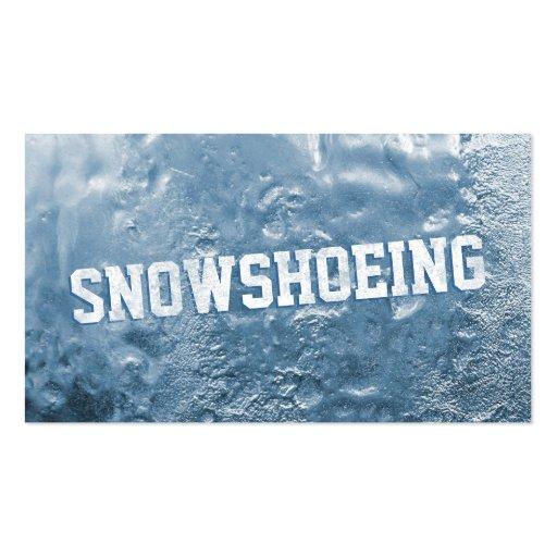 Gelo azul legal cartão de visita congelado de Snow