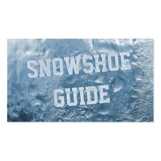 Gelo azul legal cartão de visita congelado do guia