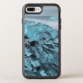 Gelo azul no seascape da praia, Islândia Capa Para iPhone 8 Plus/7 Plus OtterBox Symmetry