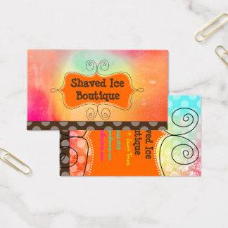 Gelo barbeado arco-íris de PixDezines + Bolinhas Cartão De Visitas