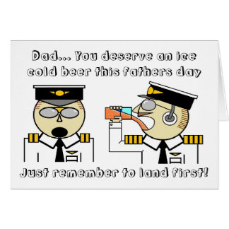 gelo - cartão do dia dos pais do piloto da cerveja