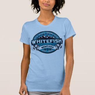 Gelo do logotipo do peixe branco camiseta