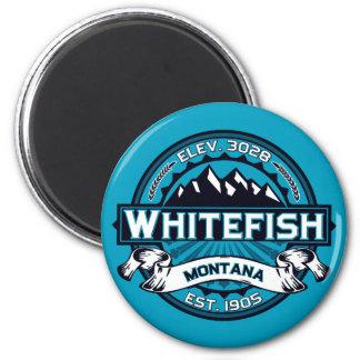 Gelo do logotipo do peixe branco imã