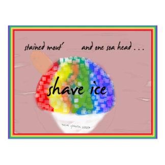 Gelo havaiano do Shave do estilo - cartão do sabor