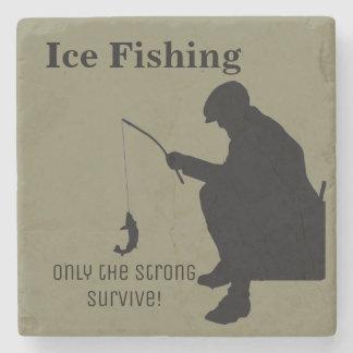 Gelo que pesca a porta copos de pedra engraçada
