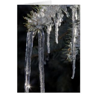 Gelo Sparkling Cartão Comemorativo