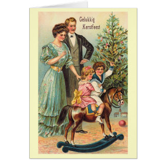 """Gelukkig Kerstfeest "" Cartão Comemorativo"