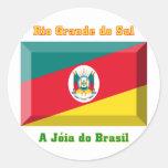 Gema da bandeira de Rio Grande do Sul Adesivo