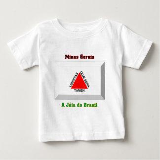 Gema da bandeira do Minas Gerais Camiseta Para Bebê