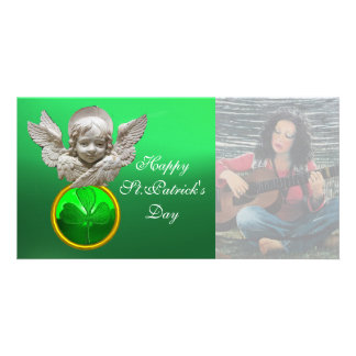 Gema FLORENTINO do trevo do verde do ANJO do Cartão Com Foto