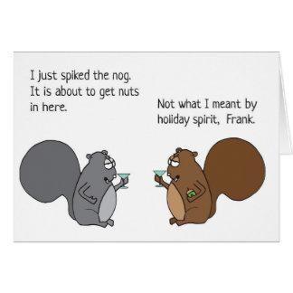 Gemada engraçada do cartão de Natal do esquilo