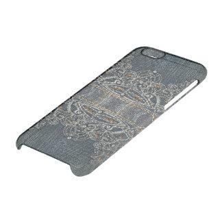 Gemas da sarja de Nimes Capa Para iPhone 6/6S Transparente