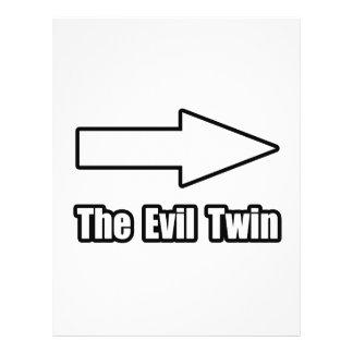 Gêmeo do mau da seta modelo de panfleto