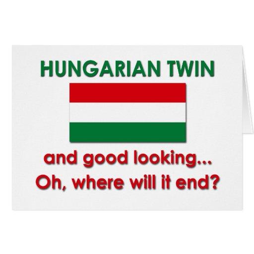 Gêmeo húngaro bonito cartões