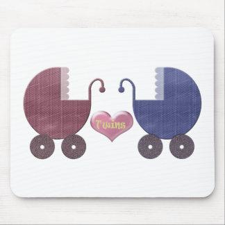 Gêmeos do bebê do menino e da menina, design da ar mouse pad