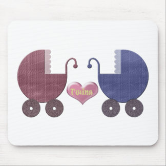 Gêmeos do bebê do menino e da menina, design da ar mouse pads