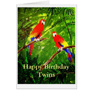 Gêmeos do feliz aniversario cartão comemorativo