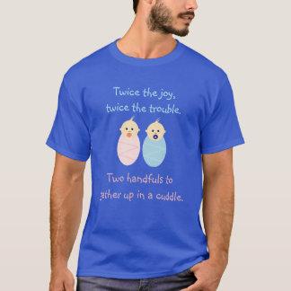 Gêmeos = duas vezes a alegria camiseta