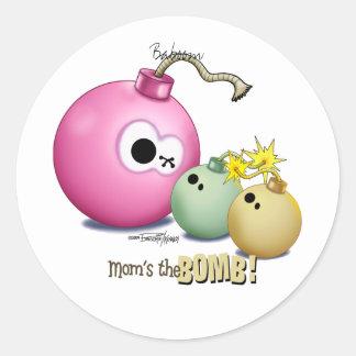 Gêmeos - mãe a bomba adesivos redondos