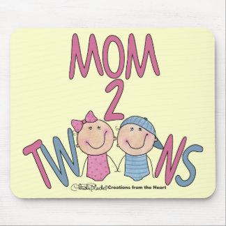 Gêmeos menino e menina da mamã 2 mouse pad