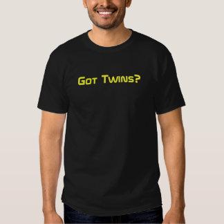 Gêmeos obtidos? Amarelo no preto Tshirts