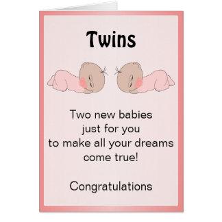 Gêmeos recém-nascidos do bebê cartoes