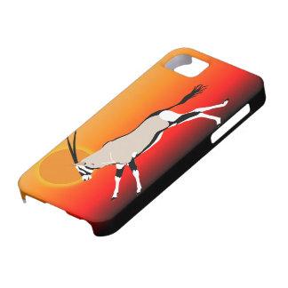 Gemsbok de Kalahari em capas de iphone do por do