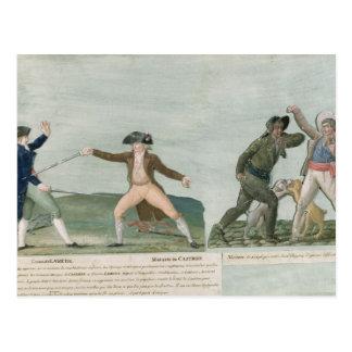 General Charles Lameth e Charles Eugene Cartão Postal