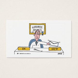 General cómico Cirurgião Desenhos animados Cartão De Visitas
