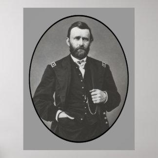 General Grant durante a guerra civil Pôster