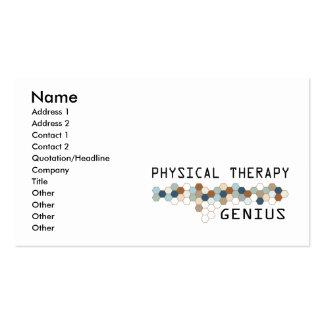 Gênio da fisioterapia modelo de cartões de visita