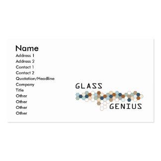 Gênio de vidro cartão de visita