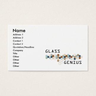 Gênio de vidro cartão de visitas