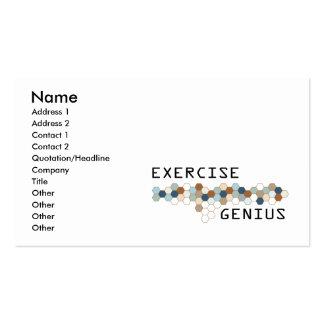 Gênio do exercício cartões de visitas