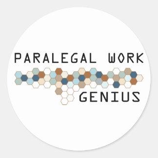 Gênio do trabalho do Paralegal Adesivo
