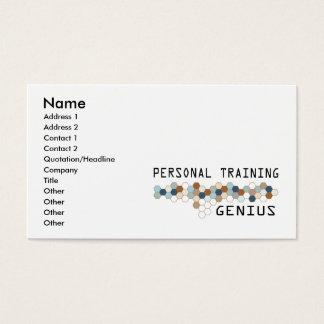 Gênio pessoal do treinamento cartão de visitas