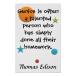 Gênio = trabalhos de casa pôsteres