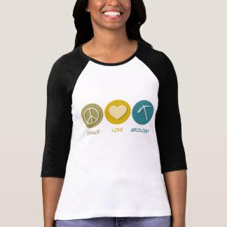 Geologia do amor da paz camiseta