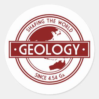 Geologia que dá forma ao logotipo do mundo adesivo
