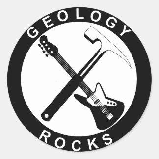 Geology Rocks Adhesive Round Large Adesivo Redondo