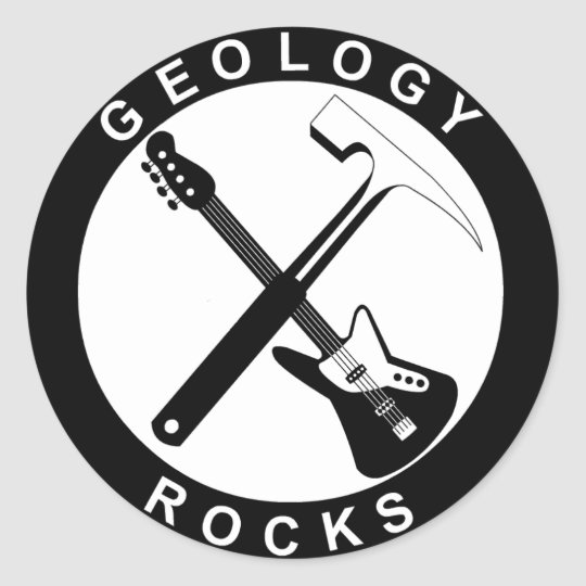 Geology Rocks Adhesive S Adesivo Redondo