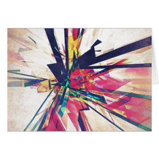 Geometria abstrata cartão comemorativo