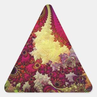 geometria abstrata surpreendente do fractal adesivo triangular