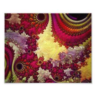 geometria abstrata surpreendente do fractal impressão de foto