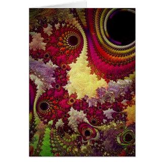 geometria abstrata surpreendente do fractal cartão comemorativo