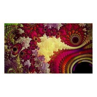 geometria abstrata surpreendente do fractal cartão de visita