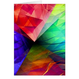 Geometria da luz cartão comemorativo