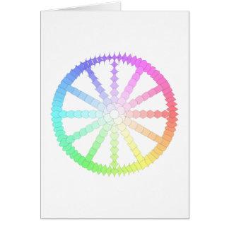 geometria da roda da evolução do polígono cartão comemorativo