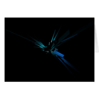 Geometria de incandescência do azul e do verde cartão comemorativo